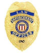 Deluxe Law Enforcement Officer Badge