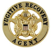 Mini Fugitive Recovery Agent Star Badge Pin