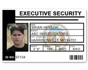 Executive Security PVC ID Card PFP023