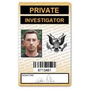 Private Investigator PVC ID Card