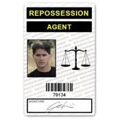 Repossession Agent PVC ID Card