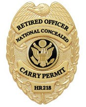 Retired Officer Concealed Carry Badge
