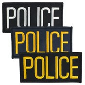 Small Police Hat or Jacket Patch