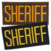 Small Sheriff Hat or Jacket Patch