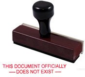 Document Does Not Exist Rubber Stamp