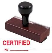 Certified Rubber Stamp