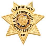 1.5 inch 7 Point Star Smith & Warren Badge S249C
