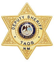 3.21 inch 6 Point Star Smith & Warren Sheriff Badge S325