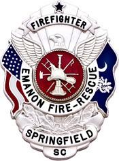 3 inch Eagle Top Smith & Warren South Carolina Badge S503SC