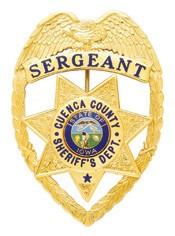 3.39 inch Eagle Top Smith & Warren Sheriff Badge S526