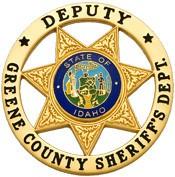 2.25 inch 7 Point Star Round Smith & Warren Sheriff Badge S559