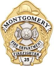 3 inch Fire Dept Smith & Warren Badge S632