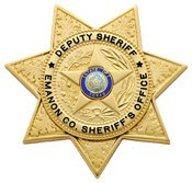 2.875 inch 7 Point Star Smith & Warren Sheriff Badge S645