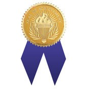 Seal of Achievement with Ribbons 12 Pcs