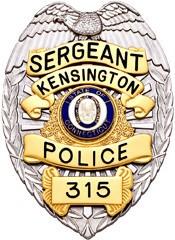 3.375 inch Eagle Top Smith & Warren Police Badge SB1902