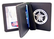 Deluxe Leather Double ID & Badge Case
