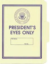 Presidents Eyes Only File Folder 5-Pack