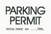 Parking Permit Windshield Pass