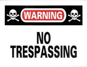 No Trespassing Sticker 10-pack