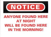 Anyone Found Here At Night... Sticker 10-pack