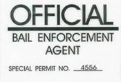 Bail Enforcement Agent Windshield Pass