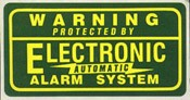Monitored Alarm System Sticker 10-pack