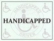 Handicapped Windshield Pass