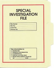Special Investigation File Folder 5-Pack
