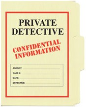 Private Detective File Folder 5-Pack