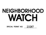 Neighborhood Watch Windshield Pass