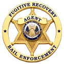 Round 6-Pt Star Fugitive Recovery Agent Badge