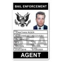 Bail Enforcement PVC ID Card BFP017