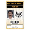 Bail Enforcement Agent PVC ID Card