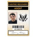 Fugitive Recovery Agent PVC ID Card