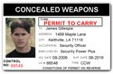 Concealed Weapons Permit PVC ID Card