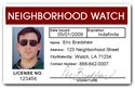 Neighborhood Watch PVC ID Card