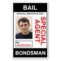 Bail Bondsman Special Agent PVC ID Card
