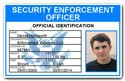 Security Enforcement Officer PVC ID Card C504PVC
