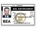 Bail Enforcement PVC ID Card C513PVC