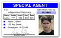 Special Agent PVC ID Card C72PVC