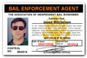 Bail Enforcement Agent PVC ID Card C87PVC