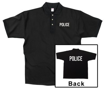 Police Black Printed Polo Shirt