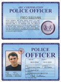 Police Officer Deluxe Folio