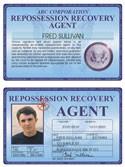 Repossession Recovery Agent Deluxe Folio