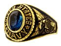 Women's Navy Military Ring