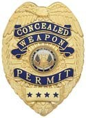 3 in. Eagle Top Smith & Warren Concealed Weapon Permit Badge K15