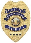 3 in. Eagle Top Smith & Warren Fugitive Enforcement Agent Badge K17