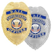 Bail Enforcement Officer-Blue Ribbon Badge