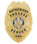 Process Server Eagle Top Badge