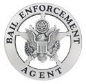 Bail Enforcement Star Badge (Silver)